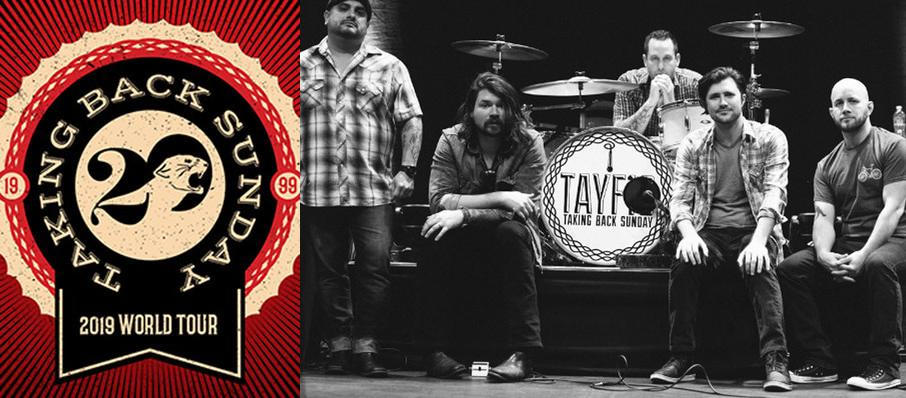 Taking Back Sunday at Saint Andrews Hall