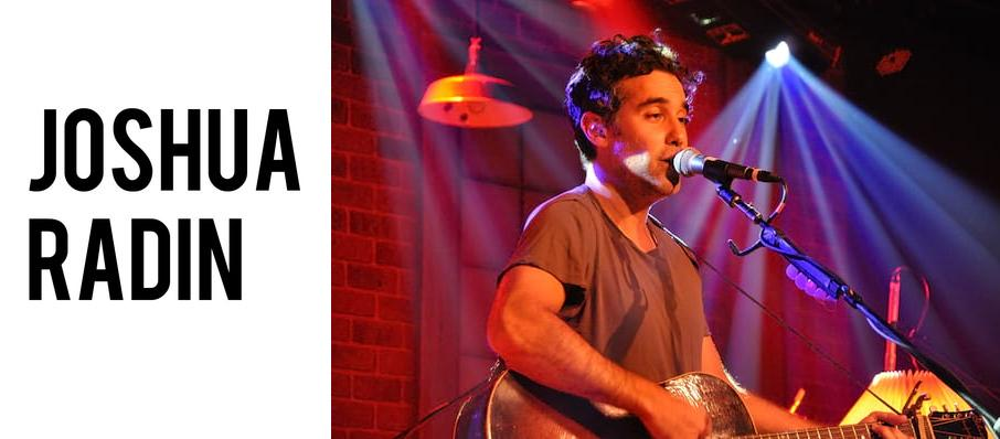 Joshua Radin at Saint Andrews Hall