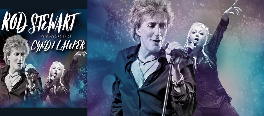 Rod Stewart and Cyndi Lauper at DTE Energy Music Center