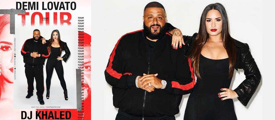 Demi Lovato and DJ Khaled at Little Caesars Arena