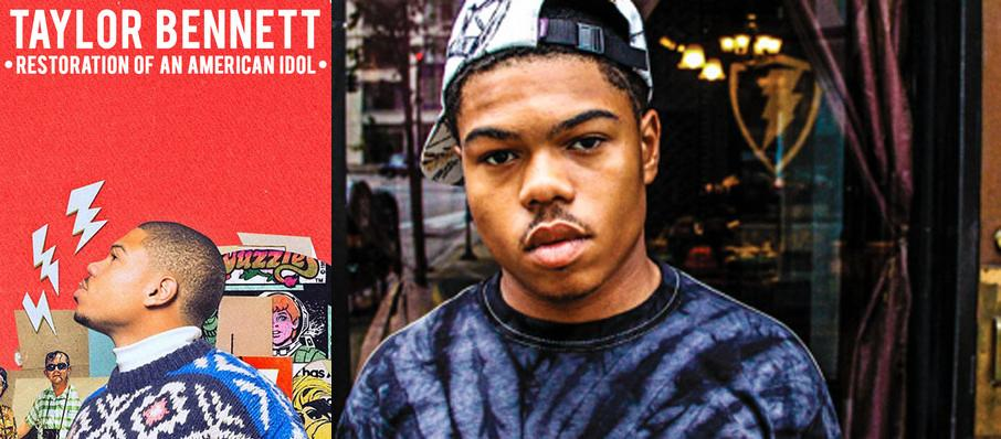 Taylor Bennett at The Shelter
