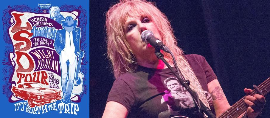 Lucinda Williams with Steve Earle and Dwight Yoakam at Meadow Brook Music Festival