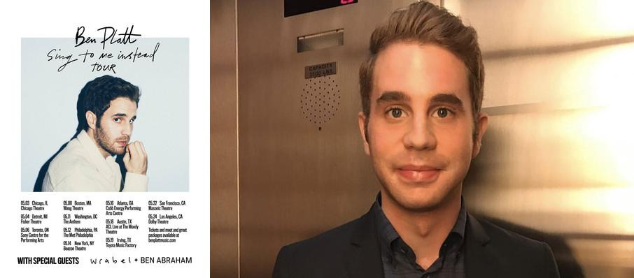 Ben Platt at Fisher Theatre