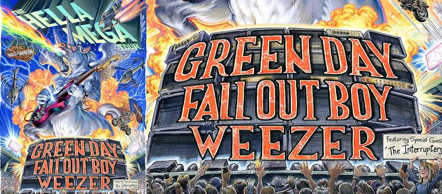 Green Day with Fall Out Boy and Weezer at Comerica Park