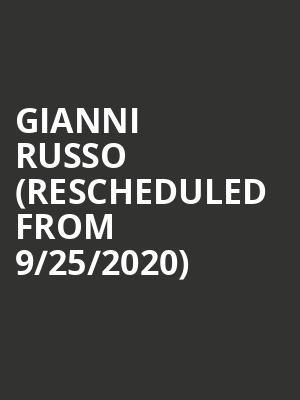Gianni Russo (Rescheduled from 9/25/2020) at Andiamo Celebrity Showroom