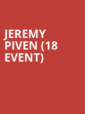 Jeremy Piven (18+ Event) at Majestic Theater
