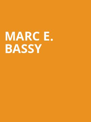 Marc E. Bassy at The Shelter