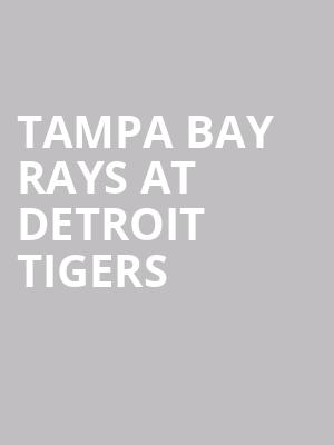 Tampa Bay Rays at Detroit Tigers at Comerica Park