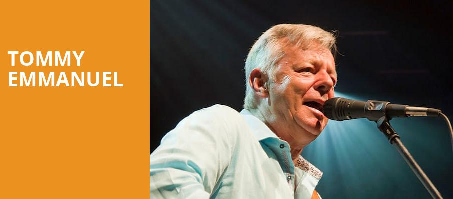 Tommy Emmanuel, Royal Oak Music Theatre, Detroit