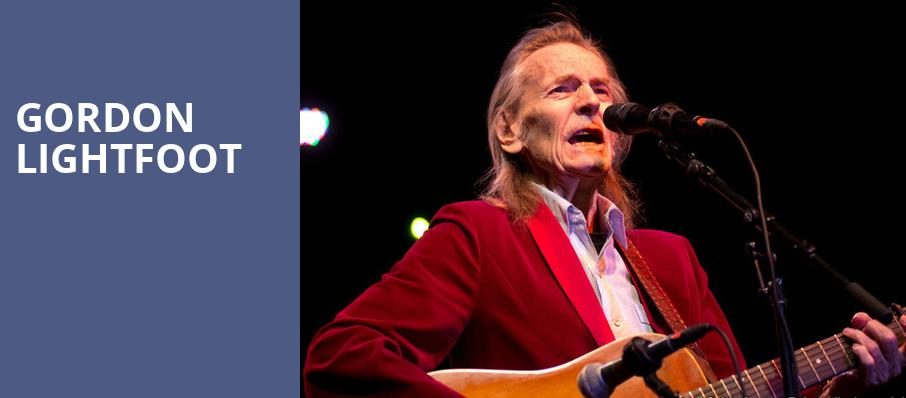 Gordon Lightfoot, Royal Oak Music Theatre, Detroit
