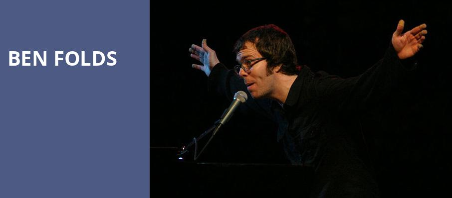 Ben Folds, The Fillmore, Detroit