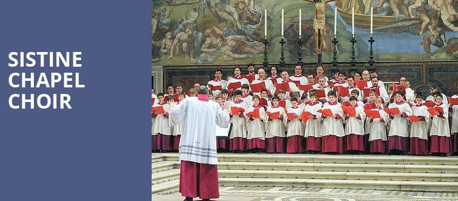 Sistine Chapel Choir, Detroit Opera House, Detroit