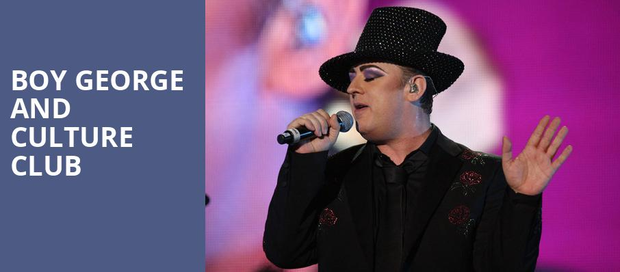 Boy George and Culture Club, DTE Energy Music Center, Detroit
