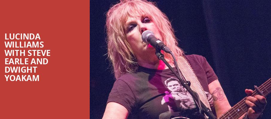 Lucinda Williams with Steve Earle and Dwight Yoakam, Meadow Brook Music Festival, Detroit