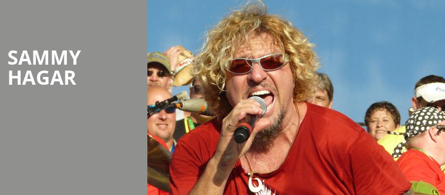 Sammy Hagar, DTE Energy Music Center, Detroit