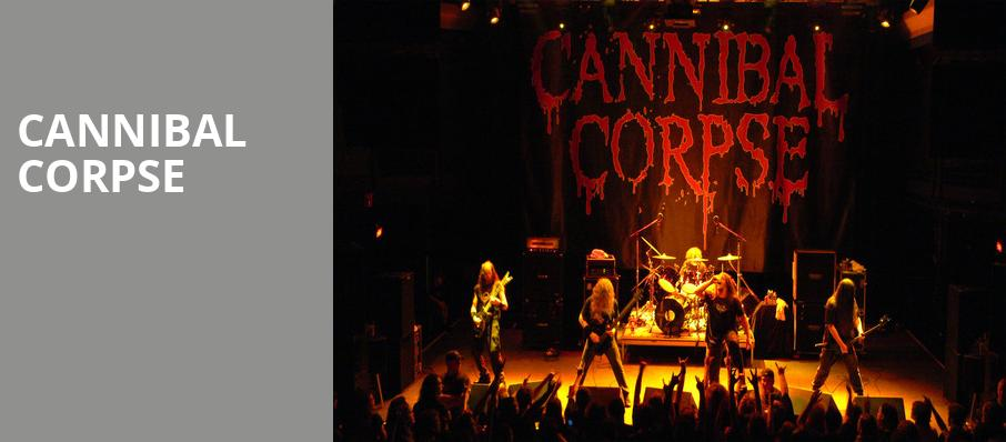 Cannibal Corpse, Saint Andrews Hall, Detroit