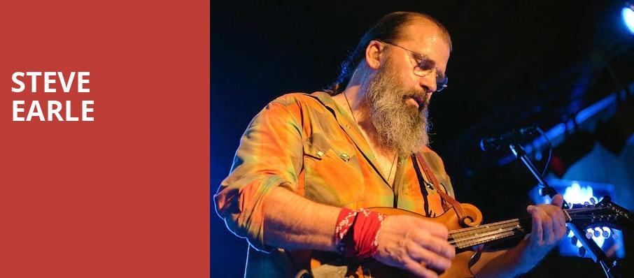 Steve Earle, The Fillmore, Detroit