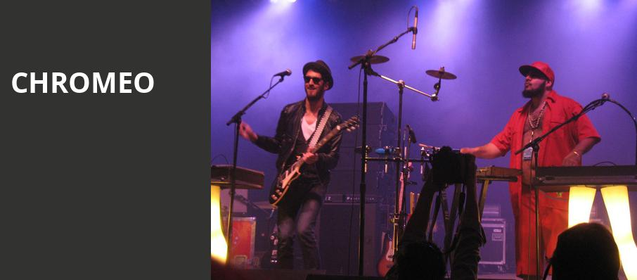 Chromeo, Royal Oak Music Theatre, Detroit