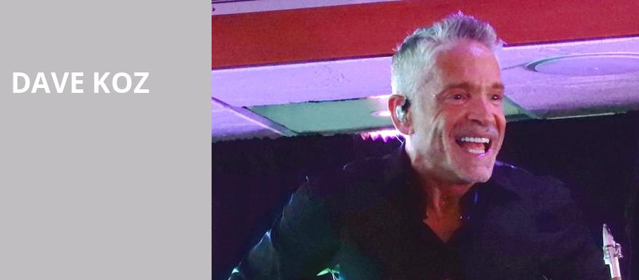 Dave Koz, Andiamo Celebrity Showroom, Detroit